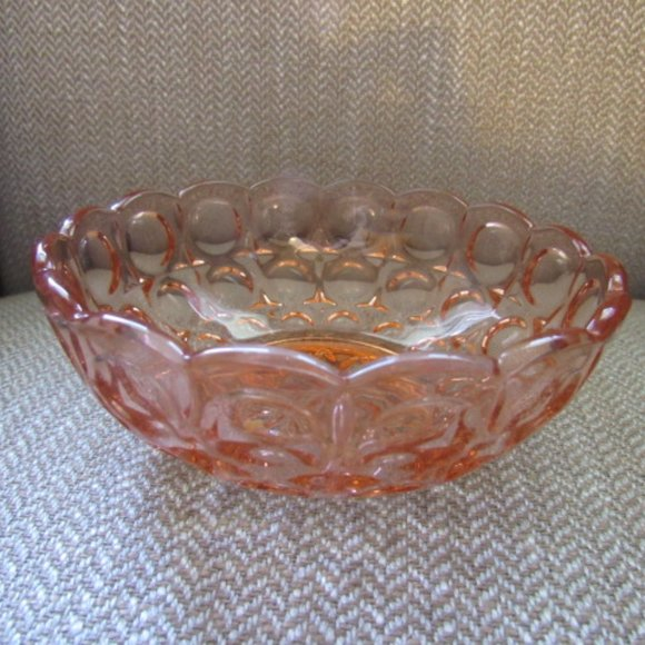 Pink glass small bowl